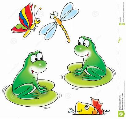 Pond Clip Clipart Illustration Children Water Isolated