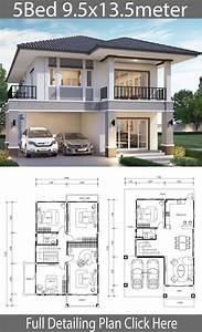 Maison Design 9 5x13 5m Avec 5 Chambres