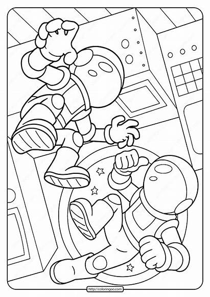 Astronauts Coloring Space Pages Printable Crayola Astronaut