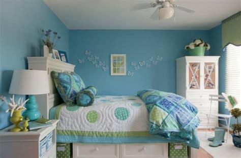 chambre gar輟n bleu wandgestaltung wohnzimmer chambre bleu fille deco chambre ado fille en bleu et papillons