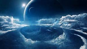 Clouds, Space, Ship, Blue, Spaceship, Wallpapers, Hd, Desktop, And, Mobile, Backgrounds
