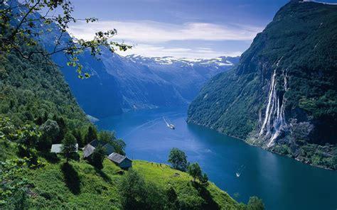 huebsches geiranger fjord norwegen hintergrundbilder