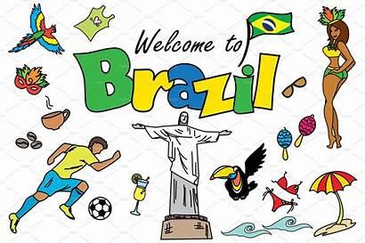 Brazil Cartoon Rio Graphics Landmarks Brazilian Travel