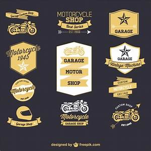 Motorcycle retro labels set Vector | Free Download