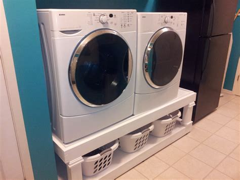 washer dryer pedestal diy white washer and dryer pedestal diy projects