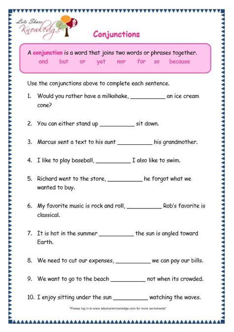 page  conjunctions worksheet conjunctions worksheet