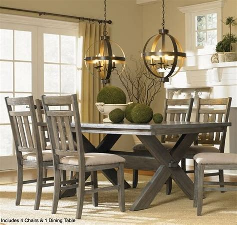powell turino grey oak dining room kitchen table  chairs  pc set furniture  ebay