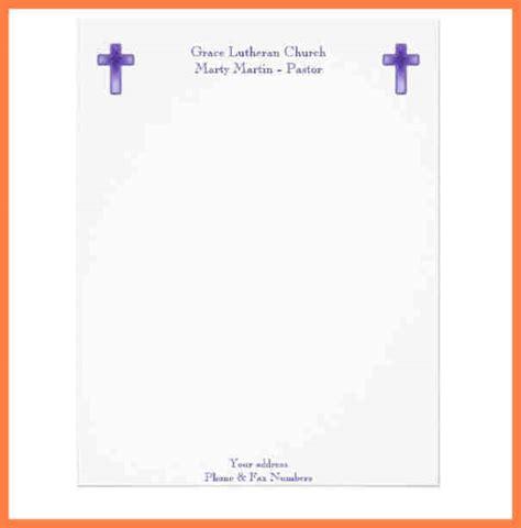 church letterhead template company letterhead