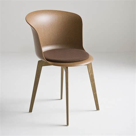 chaise en polycarbonate epica eco design chair in recycled wood plastic material