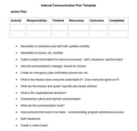 Internal Communication Plan Template