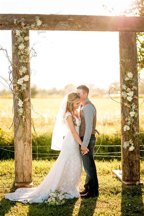 diy barn wood wedding arbor