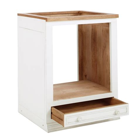 meuble bas cuisine 30 cm meuble bas de cuisine pour four en manguier ivoire l 70 cm
