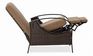 Amazoncom strathwood all weather wicker deep seating for Outdoor reclining chairs