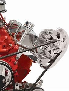 Polished Alternator Bracket Drivers Side Mount Long Pump Chevy