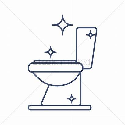 Toilet Clean Bowl Clipart Shiny Bathroom Restroom