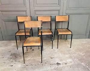 Chaise D école : ensemble 16 chaises d 39 cole pied fuseau ~ Teatrodelosmanantiales.com Idées de Décoration