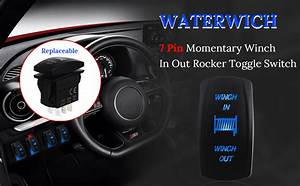 Amazon Com  Waterwich 7 Pin Momentary Winch In Out Rocker