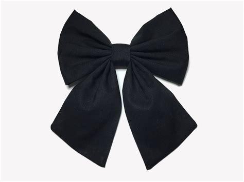Black Hair Bow Clip Sailor Bow Black Hair Bow Hair Bow Etsy