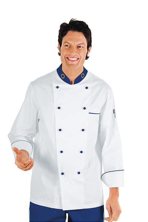 magasin de vetement de cuisine veste chef cuisinier 4xl blanc bleu cyan 100 coton