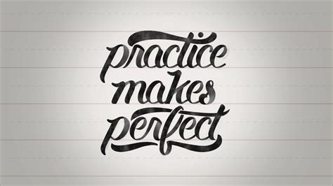 practice makes perfect typography animation youtube