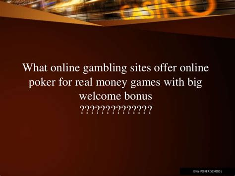 Play Online Poker For Real Money Now