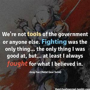 Metal Gear Soli... Solid Attitude Quotes