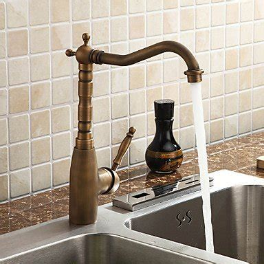 eleoption retro styling antique brass kitchen tap faucet