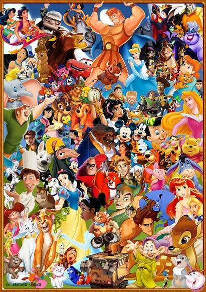 Disney Collage Characters Walt Movies Character Pixar