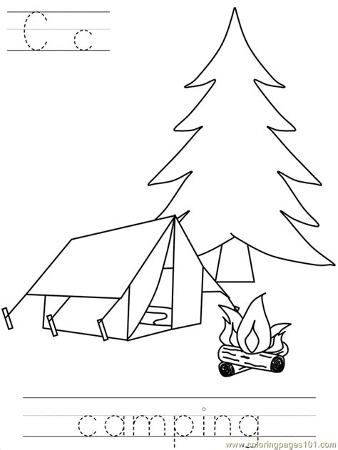 bposter camping coloring page   coloring pages