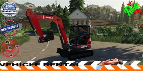 mini excavator loxam  fs mod mod  landwirtschafts simulator  ls portal