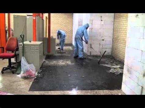 asbestos tiles  mastic removal  foamshield youtube