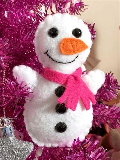 pattern mini felt snowman softie sewing