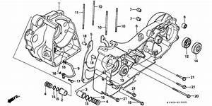 Crankcase For 1996 Honda Ch125
