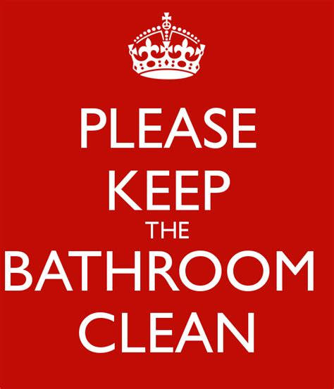 keep the bathroom clean poster conti keep calm