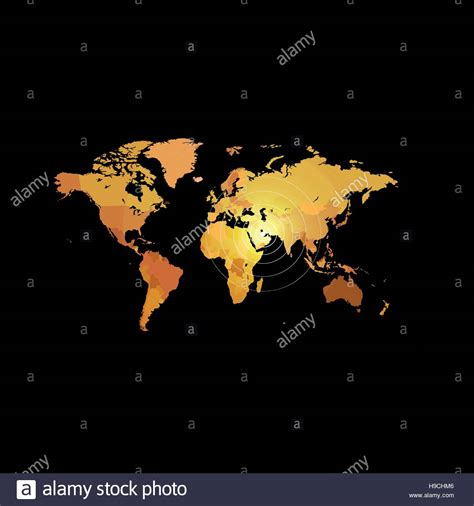 color world orange color world map on black background globe design