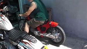 Custom Drag Honda Cub C50  160cc 1st Test Ride
