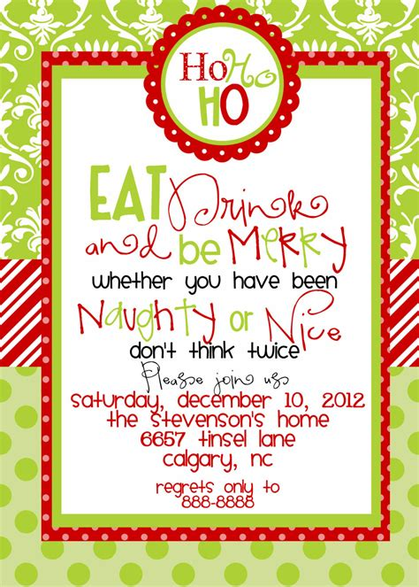 printable christmas invitations christmas party invitations templates free printables