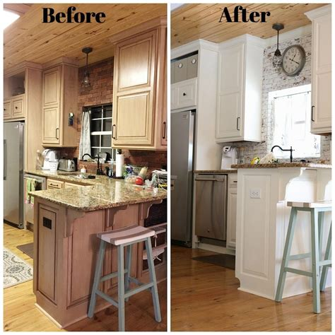 before and after small kitchen makeovers kitchen makeover before after refresh restyle 9090