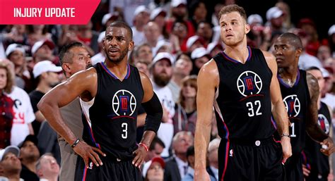 la clippers injury update los angeles clippers