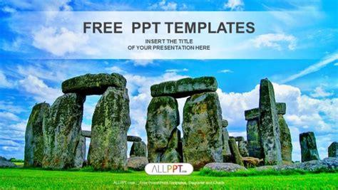 beautiful stonehenge visuals powerpoint template