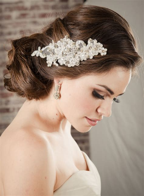 Bridal Hair Accessories by Hair Accessories Bridal Lace Comb Pearl Rhinestone