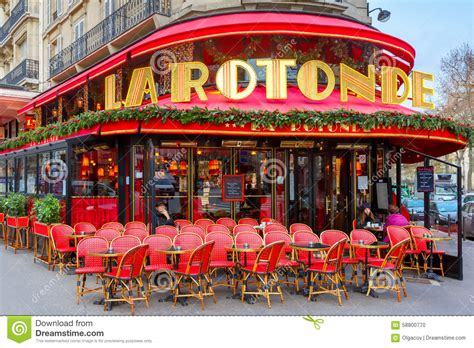 cafe de la rotonde in editorial image image 58800770