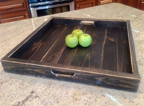 extra large ottoman tray extra large ottoman tray reclaimed wood square ebay