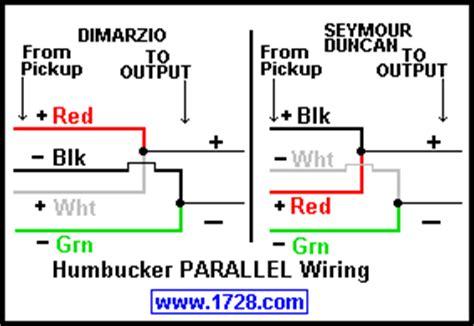 dimarzio j series vs parallel wiring talkbass