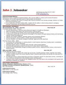 resume of investment banker sle resume for investment banking analyst resume downloads