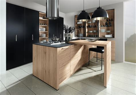 beautiful cuisine noir bois inox contemporary matkin