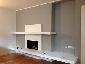 Camino Bioetanolo Parete Sasso Cartongesso Tv ~ Home Design e Ispirazione Mobili