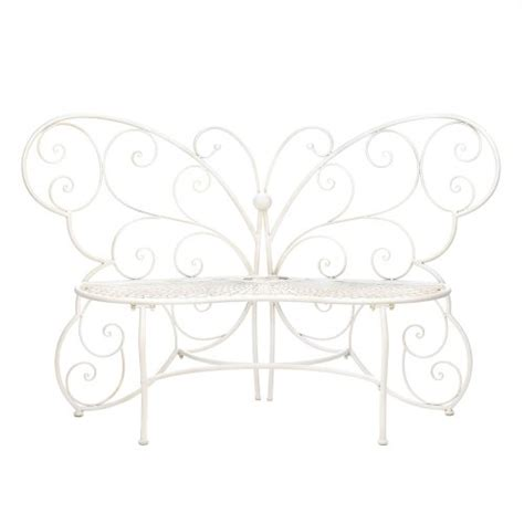 sale new butterfly garden bench indoor or outdoor white