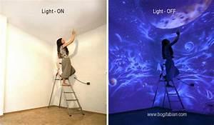 Wandmalerei Selber Machen : leuchtende wandmalerei wenn die lichter erl schen siehst du eine neue welt ~ Frokenaadalensverden.com Haus und Dekorationen