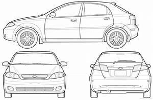 Blueprints  U0026gt  Cars  U0026gt  Chevrolet  U0026gt  Chevrolet Optra Hatchback